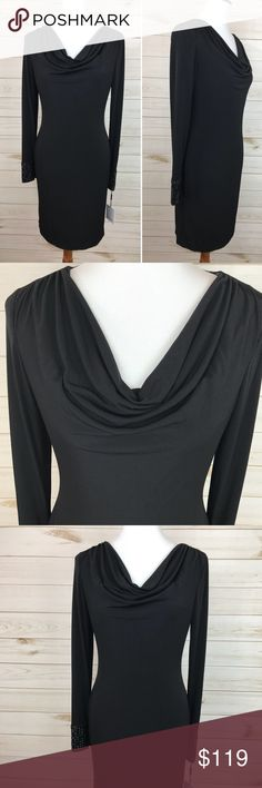 Calvin Klein Black Cowl Neck Dress NWT - Black Cowl Neck Dress - Perfect Condition - Never Worn - See photos for washing instructions and materials Calvin Klein Dresses