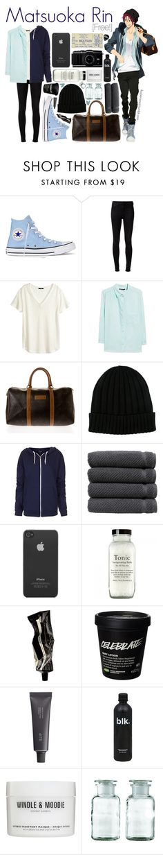 """Matsuoka Rin [Free!]"" by ibuperisesat ❤ liked on Polyvore featuring Converse, rag & bone, H&M, Violeta by Mango, Christian Dior, Dolce&Gabbana, Topshop, Linum Home Textiles, Incase and Aesop"
