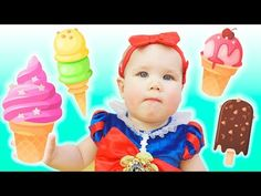 Ice Cream Song - Nursery Rhyme by Vasya - YouTube Chocolate Ice Cream, Vanilla Ice Cream, Strawberry Ice Cream, Educational Videos, Kids Songs, Nursery Rhymes, Green And Orange, Yummy Treats