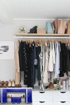 Ideas About Wardrobe Modern Designs For Bedroom - Wardrobe Design With Hanging Wardrobe, Open Wardrobe, Bedroom Wardrobe, Home Bedroom, Wardrobe Storage, Girls Wardrobe, Portable Wardrobe, Garage Bedroom, Serene Bedroom