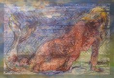 SIRÈNE DU DELTA DE LA VISTULE - Printmaking, 130x89 cm ©2013 da ATELIER PYZIK - Incisione