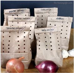 How To Store Onions, Garlic,