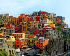 Took a boat to each one of the five villages in Cinque Terre - Italy 2013