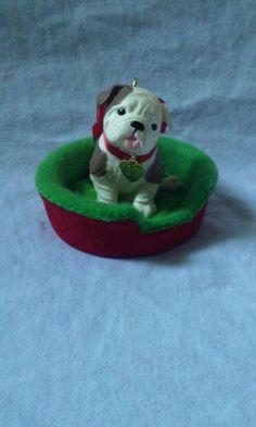 Hallmark Keepsake Ornament Christmas 2007 Puppy Love #HallmarkKeepsakeOrnament #PuppyLoveHallmarkOrnament