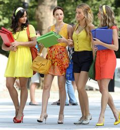 gossip girl's colorful outfits...don't know if this should go in favorites or fashion!