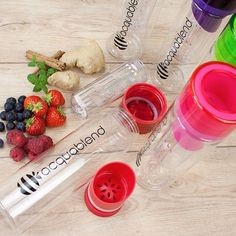 Making fruit infused water is so easy - there are plenty of ingredients to motivate and move you to create some great infusions.:sweat_drops::lemon::strawberry: With @aquablend bottles it's simple to use, and simple to clean with all the fruit kept in a h