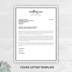 Sample resume professional resume template the modern cut 1 page resume template with icons for microsoft word mac pages mallory cox spiritdancerdesigns Image collections