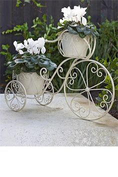 Take A Look At The Two Tier Bicycle Planter | Outdoor Escapes | Pinterest |  Planters