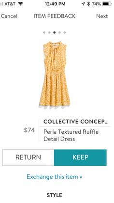 I like this dress but not in yellow., orange, off white. I would like it to be Red, blue, a light pastel color. It needs to be right above my knees or to my knees.
