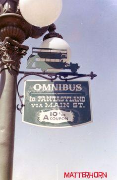 The final Main Street vehicle silhouette sign is for the Omnibus. Disney Sign, Disney Parks, Walt Disney, Silhouette Sign, Disney Brands, Signages, Vintage Disneyland, Disney California Adventure, Main Street
