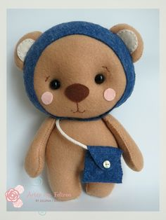 Ursinho Fofo - Disponivel em Apostila Digital Urso em Feltro  Apostila Família Ursos