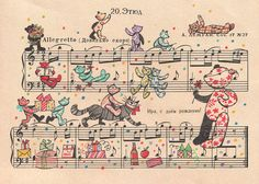 Illustrations on sheet music