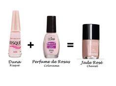 Misturinha para Chanel Dunas Risqué + Perfume de Rosas Colorama = Jade Rosé Chanel
