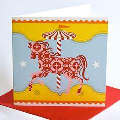 Carousel Pony Greeting Card / Birthday www.motherbabystore.com.au
