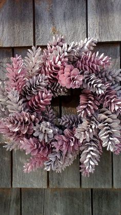 Pretty In Pink 12 Wreath Maine Pinecones by scarletsmile on #Etsy, $26.00