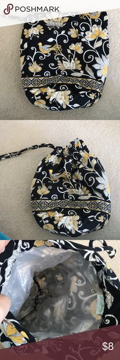 Vera Bradley swimsuit bag Drawstring bag designed to hold wet bathing suits or other wet items, has waterproof lining, works great!! Vera Bradley Bags Travel Bags