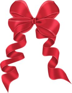 Red Bow with Ornaments Decor PNG Clipart | MAŠLE | Pinterest