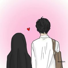 Read Couple Halal from the story Gambar Muslimah by (Zhafira Rochimi) with reads. Love Cartoon Couple, Cute Love Cartoons, Anime Love Couple, Cute Couple Drawings, Cute Couple Art, Cute Muslim Couples, Cute Anime Couples, Muslim Images, Islamic Cartoon