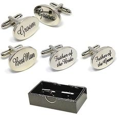#Boxed silver oval mens #wedding #cufflinks cuff link groom best man usher page,  View more on the LINK: 	http://www.zeppy.io/product/gb/2/151973369012/