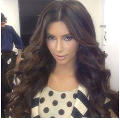 gotta try my hair like this - kim kardashian #hair #makeup