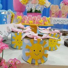 E o tema da festa da Alice foi Sunshine, já que a mamãe diz que ela é a sua Sunshine  ☀️☁️  #personalizados  #festa  #lembrancinhas  #lembrancinhaspersonalizadas  #personalizadosolzinho  #festasolzinho  #festaceu  #festasol