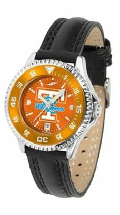 Tennessee Volunteers UT NCAA Womens Leather Anochrome Watch by SunTime. $79.95. Showcase the hottest design in watches today! A functional rotating bezel is color-coordinated to compliment your favorite team logo. A durable long-lasting combination nylon/leather strap together with a date calendar round out this best-selling timepiece.The AnoChrome dial option increases the visual impact of any watch with a stunning radial reflection similar to that of the underside of a CD. P...