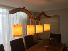 Unique Cozy ceiling lamp with four lights finished by GBHNatureArt