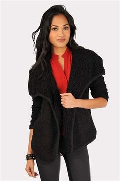 Abyss Alpaca Blend Cardigan | Alpacas, Sweater blanket and Loose ...