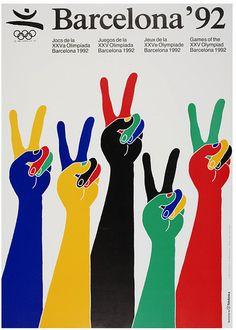 Poster Barcelona 92, diseño Enric Satué #design #graphic #spain