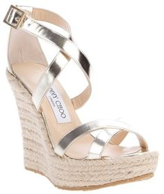 JIMMY CHOO Wedged Porto Espadrille. A must have wedge. Pretty much a staple that you can keep rolling out year after year in nice weather.