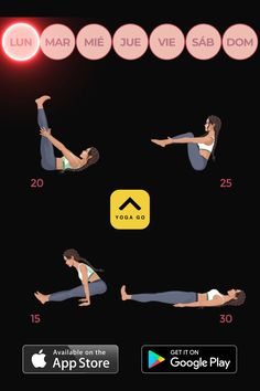 Yoga-Go: Weight Loss Workouts 🧘♀ 30 Minute Workout, Gym Workout Tips, Yoga Workouts, Exercises, Gym Workouts To Lose Weight, Gentle Yoga Flow, Yoga Sculpt, 30 Day Workout Challenge, Workout Aesthetic
