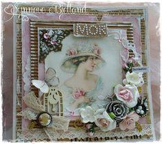 STAFFELIKORT TIL MOR | The Paper Crafting Easel Cards, Flower Cards, Vintage Cards, Paper Crafting, Shabby Chic, Make It Yourself, Frame, Flowers, How To Make