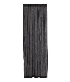 Curtain panel in woven, slub-textured cotton fabric. Hemming tape included. Pack contains one curtain panel.