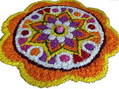 Onam Pookalam, the Flower Rangoli is the main attraction to the festival.