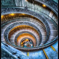 The Spiral Stairs of Vatican, Rome, Italy