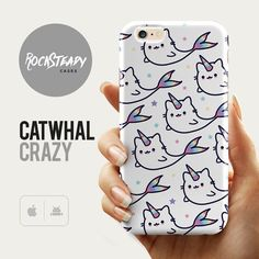 Cat unicorn Whale iPhone 6s case - cute kawaii catwhal narwhal phone case. Also availble for the cell phone models listed below)  Perfect gift for unicorn/ cat/ narwhal / whale lovers!  Stylish, slim, durable and lightweight.   For more cute phone cases click here:  https://www.etsy.com/uk/shop/RockSteadyCases?section_id=17644530&ref=shopsection_leftnav_9  For marble cases click here:  https://www.etsy.com/uk/shop/RockSteadyCases?section_id=17558233&ref=shopsection_leftnav_1  For Pattern…