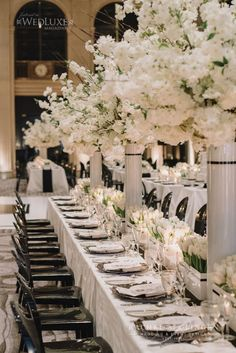 Veronica and Craigs modern black and white wedding at One King West in Toronto took modern chic to a whole new level. Jessy loved working with beautiful Veronica and collaborated closely her to design her downtown dream wedding. Our team created the glamorous look with rows of white tulips and stunning white cherry blossoms both ... Read moreChic Modern Black And White Wedding At One King West Tulip Wedding, Flower Crown Wedding, Wedding Flowers, Cupcake Tower Wedding, Wedding Cakes With Cupcakes, Cupcake Towers, One King West, White Cherry Blossom, Cherry Blossoms