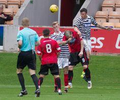 Queen's Park's Adam Cummins in action during the Ladbrokes League One game between Brechin City and Queen's Park.