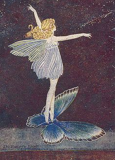 Soaring on a Blue Butterfly, Ida Outhwaite