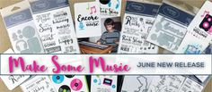Like music? Got memories to scrapbook that involve concerts, music lessons and listening to your favorite bands? Check out the latest clear stamps and steel dies from TechniqueTuesday.com. They are prefect for the music lover!