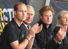 Prince Harry and Prince Charles - Invictus Games:  Athletics