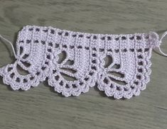 - a grouped images picture Crochet Boarders, Crochet Edging Patterns, Crochet Lace Edging, Crochet Motifs, Crochet Trim, Filet Crochet, Crochet Designs, Crochet Doilies, Hand Crochet