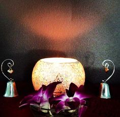 Candle light, bells, orchids