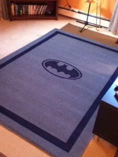 superhero rug | DIY – Painted Area Rug | Penny and Polly