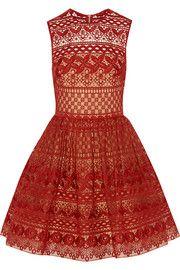 Elie SaabCotton-blend guipure lace mini dress