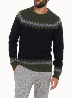 Geometric jacquard sweater | Simons