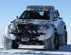 Toyota Hilux Conquers Antarctica On Jet Fuel: Toyota Hilux Antarctica Photo 8 of More high resolution images related to the same subject are also available Toyota Hilux, Toyota Autos, Toyota 4x4, Toyota Trucks, 4x4 Trucks, Custom Trucks, Cool Trucks, Cool Cars, Toyota Tacoma