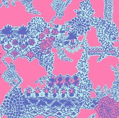 Lilly Pulitzer Pop Pink on the Square. Spring 2014 Lilly Pulitzer Patterns, Lilly Pulitzer Prints, Bold Prints, Fun Prints, Painted Signs, Vintage Prints, Cute Art, Art Decor, Print Patterns