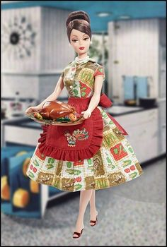 aa0bd4df89 THANKSGIVING FEAST BARBIE DOLL Holiday Hostess Collection
