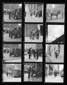 Vivian Maier Contact sheet - Fall 1953, New York, NY VM1953W03396